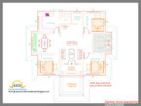 Single House Floor Plans Single Floor House Plan And Elevation 1290 Sq Ft