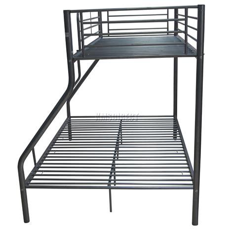 Bunk Bed Support Slats Foxhunter Children Metal Sleeper Bunk Bed Frame In Silver No Mattress New Ebay