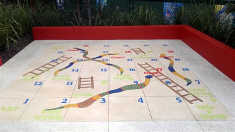 epoxy resin outdoor area snakes ladders design from
