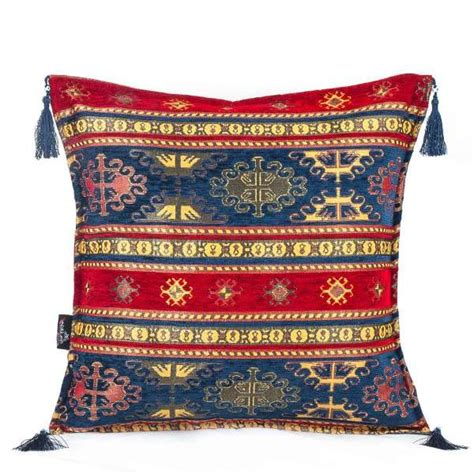 Turkish Pillow Cases by 2x Blue Ethnic Turkish Kilim Pillows Fairturk