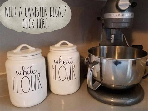 rae dunn inspired pantry  canister label vinyl decals