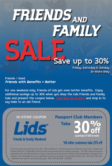 Locker Room Coupons by Lids Friends And Family Hat Sale Lids 174