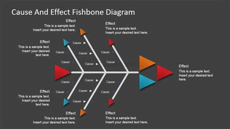 Arrows Cause And Effect Diagram For Powerpoint Slidemodel How To Make Fishbone Diagram In Powerpoint