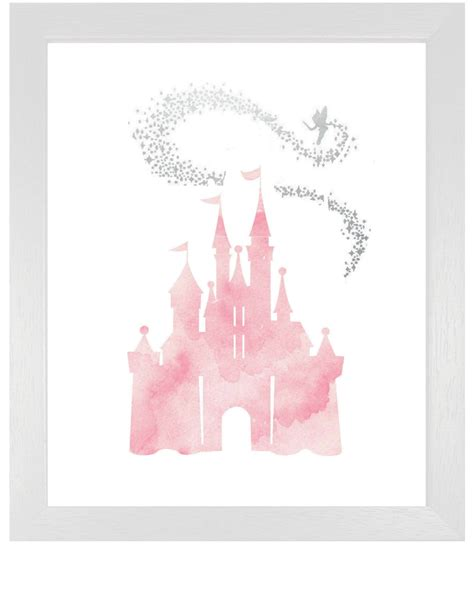 free cinderella painting pink cinderella castle with tinkerbell diy by