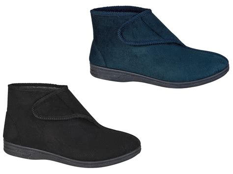 comfort wide shoes diabetic orthopaedic comfort slippers boots shoes fur
