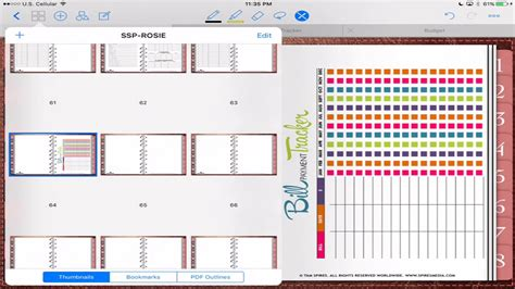 templates for goodnotes digital planner setup in custom rose gold 2017 in