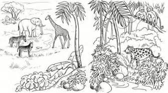 free safari scene coloring pages
