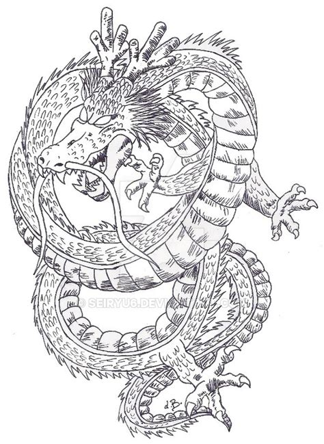 shenron dragon ball by seiryu6 on deviantart