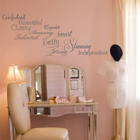 Wall Stickers Words Confident Woman S Words Of Wisdom Inspirational Words