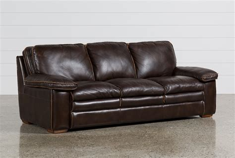 leather sofa walter leather sofa living spaces