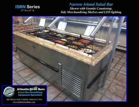 Counter Top Salad Island Salad Bar Mh1570fl4t atlantic food bars narrow island salad bar w granite counter the atlantic food bars weekly