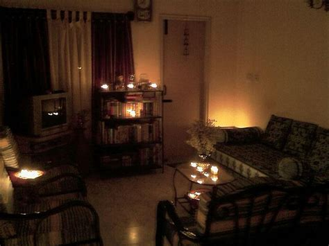 Candles In Living Room by Candle Lit Living Room Candle Lit Living Room At Home On