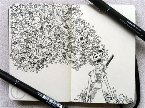 create drawing 25 beautiful doodle works around the world