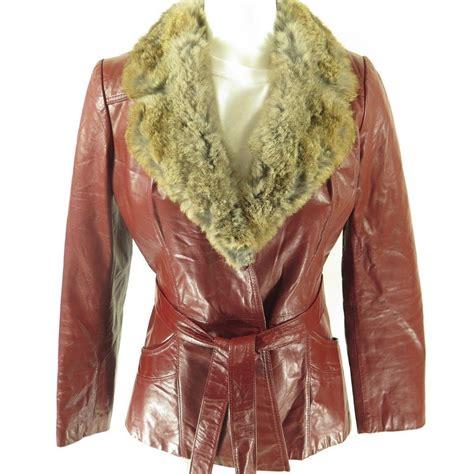 vintage 70s opera leather womens 10 rabbit trim real
