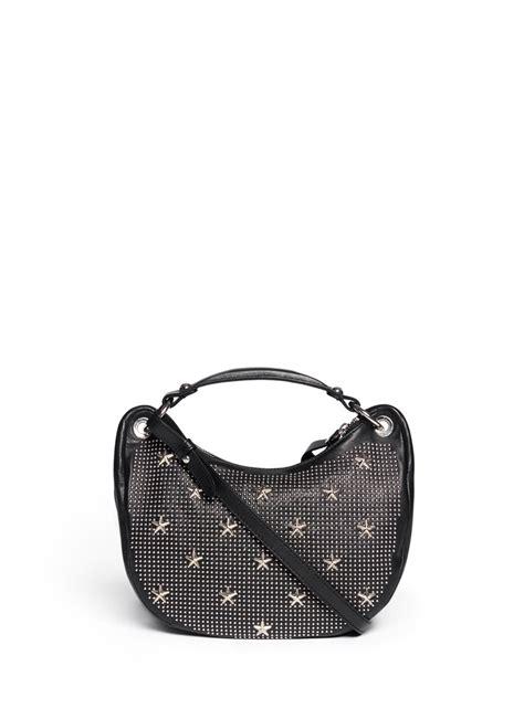 Jimmy Choo Dessy Holdall Handbag by Lyst Jimmy Choo Stellar And Studs Mini Hobo Bag In