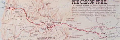 map of oregon trail through kansas day 45 westward ho
