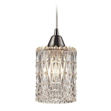 Pendant Light With Crystals Mini Pendant Light With Clear Glass 10343 1 Destination Lighting
