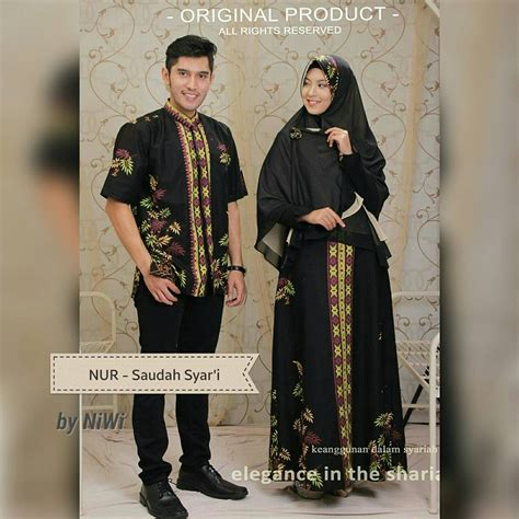 Cauple Batik Adreena Muslim Syari baju pesta batik galeri ayesha jual baju pesta