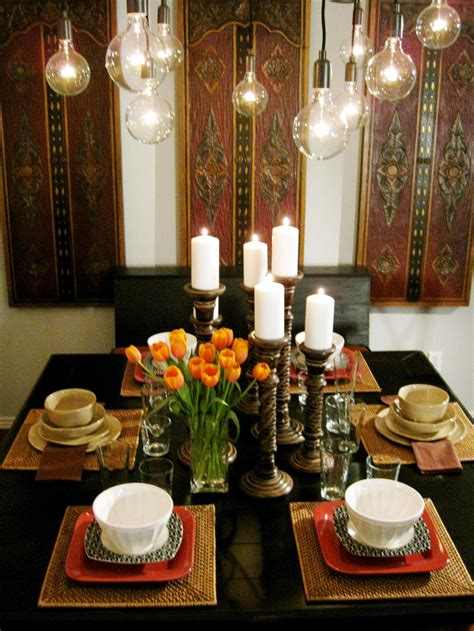 Candle Centerpieces For Dining Room Table by Our Fave Colorful Dining Rooms Living Room And Dining Room Decorating Ideas And Design Hgtv