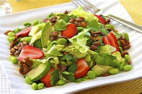 Salad by Butter Lettuce Salad W Strawberries Avocado Edamame