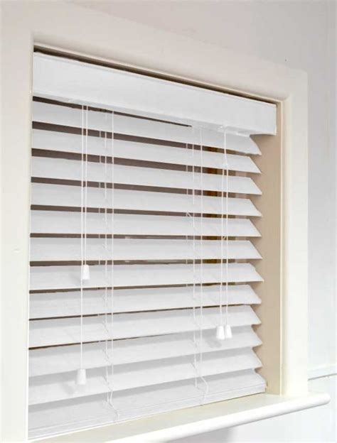 White Blinds Nile 63 Wooden Blind In White Quality Made To Measure