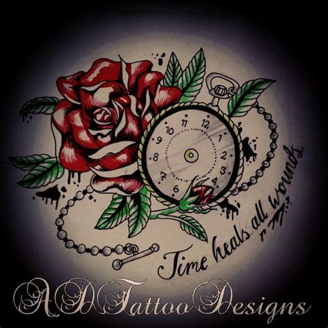 wound tattoo designs best 25 time heals ideas on hourglass
