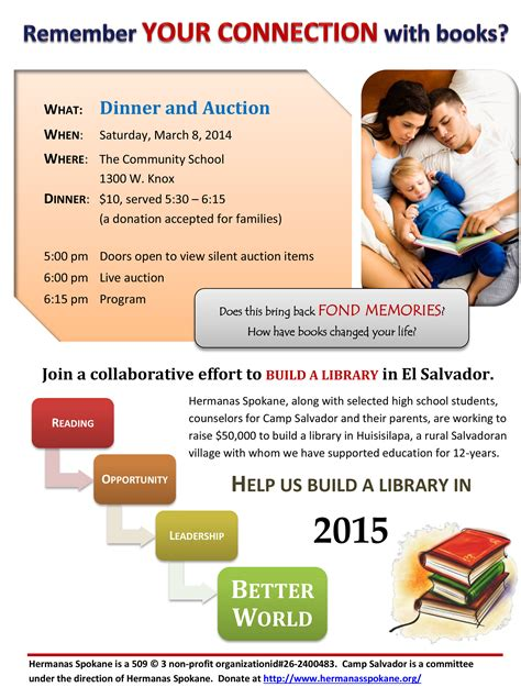 building the a mid major fundraising story books library fundraising dinner hermanas spokane
