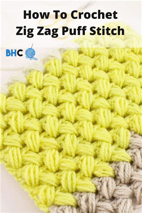 zig zag crochet pattern how to crochet zig zag puff stitch stitches pandora and videos
