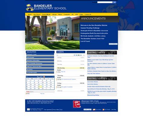 elementary school website bandelier elementary school website launched