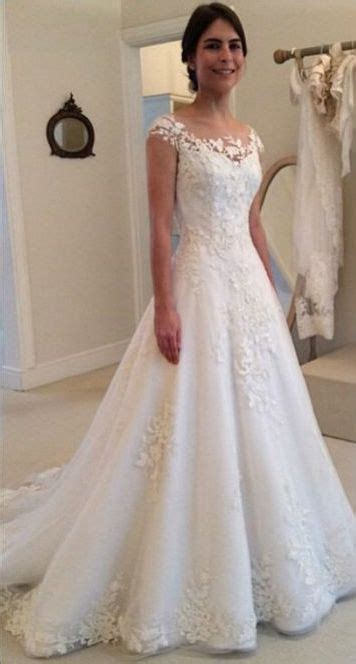 Bridal Gowns With Sleeves by Wedding Dresses A Line Lace With Thick Straps