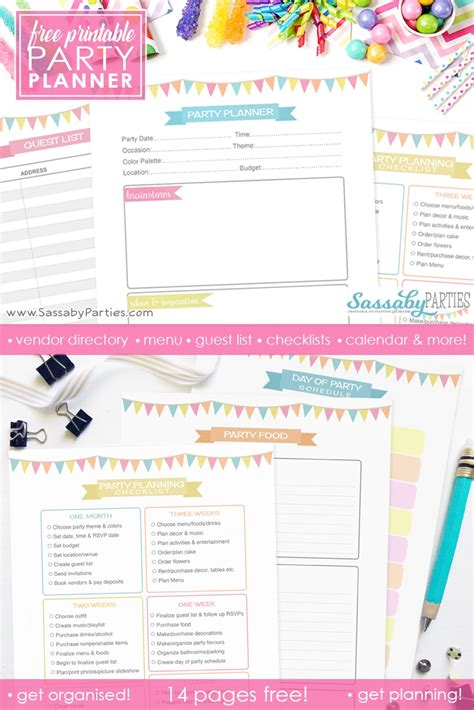 printable christmas planner freebie urban eve party planner free printable 14 pages the sassaby party co