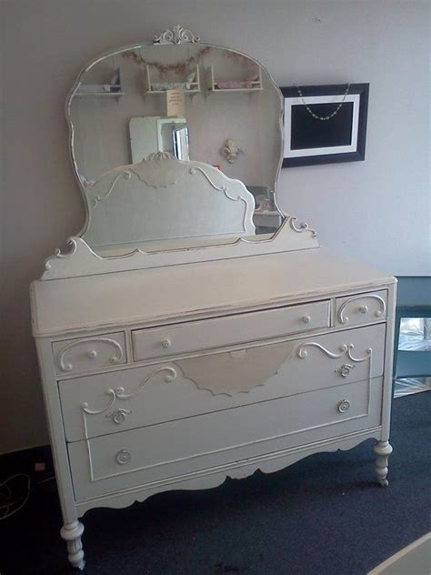 Painted Antique Dressers by Antique Painted Dresser With Mirror Closed Sold It