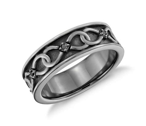 colin cowie black infinity wedding ring in