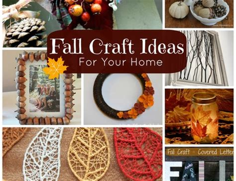crafts for decorating your home fall craft ideas for your home craftfoxes