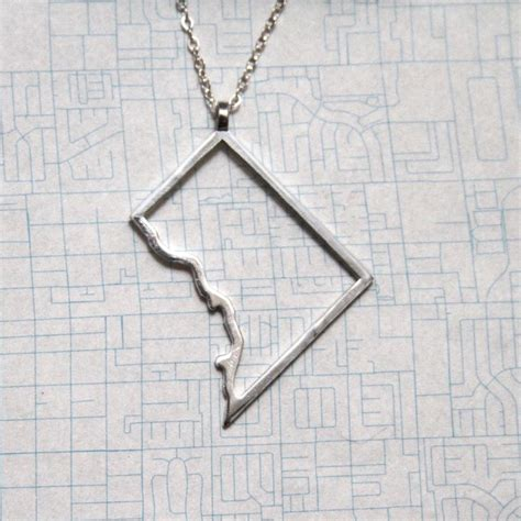 Handmade Jewelry Washington Dc - 3d printed jewelry sterling silver washington dc map