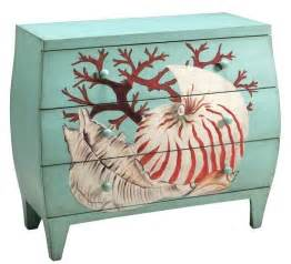 Sea Shell Decor Art Amp Function With Beach Furniture Painted Dressers