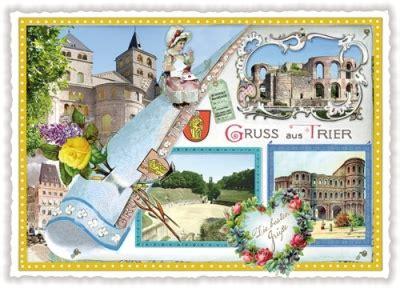 Sticker Drucken Trier by Tausendsch 214 N Gruss Aus Trier Postkarte