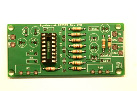 resistors function circuit board pt2399 dev delay assembly synthrotek
