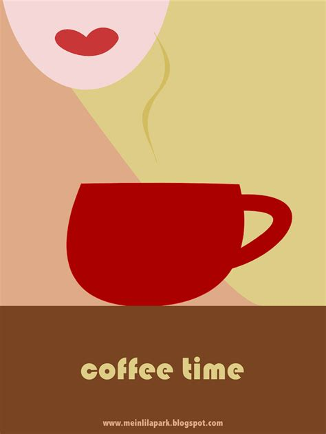 Coffee Print free printable coffee card ausdruckbare karte freebie meinlilapark