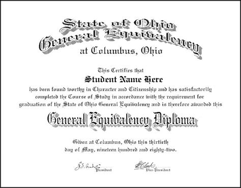 free ged diploma template free ged diploma free diploma templates