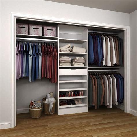 closetmaid selectives 8 ft 12 ft white entry closet