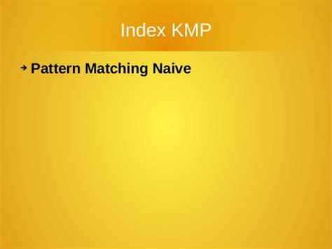 implement kmp pattern matching algorithm algoritmo knuth morris pratt italiano