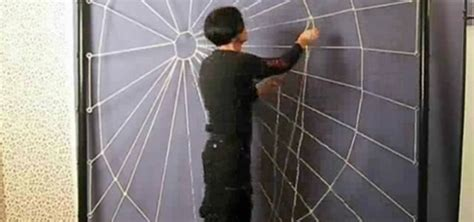 How To Make A Spiderweb Out Of Paper - how to craft a person sized spiderweb out of rope