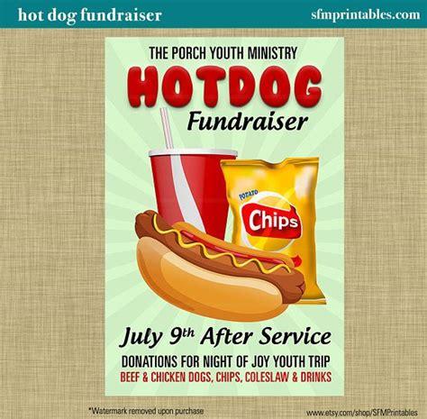 hot chips event hot dog fundraiser dinner bbq invitation poster spring