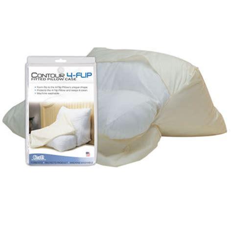 contour 4 way wedge pillow cover microfiber pillow