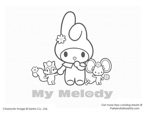 hello kitty and my melody coloring pages 53 best images about hello kitty and friends party on