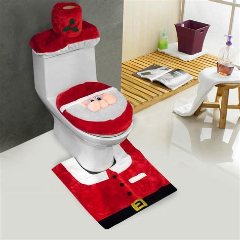 Set Santa santa bathroom sets home decor smart