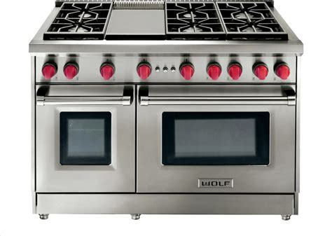 Wolf 6 Burner Cooktop wolf 48 quot gas 6 burner range stainless steel gas gr486g gas ranges and electric