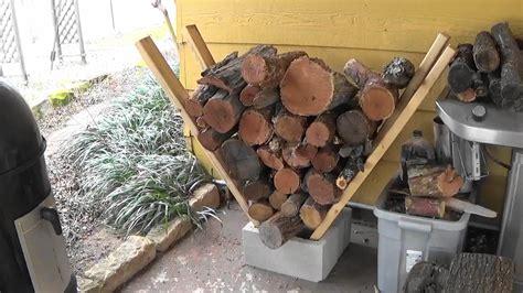 diy firewood rack cinder block easy firewood rack no tools needed
