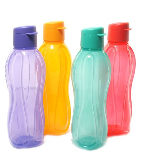 tupperware water bottle 750 ml set of 4 buy at best price in india snapdeal